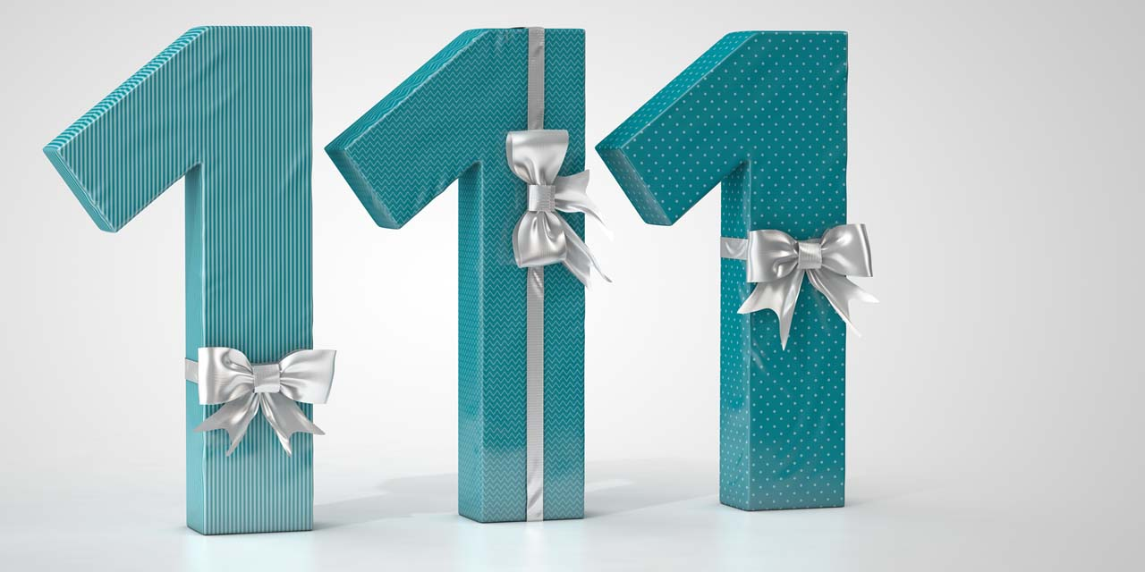 111, gift, present, bow, packaging