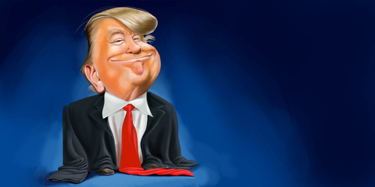 Trump, Donald, karikatur, comic, cartoon